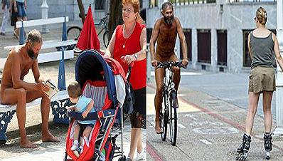 Absuelven al ciclista francés que se pasea desnudo por Gipuzkoa